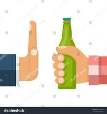 cartoon beer no background no alcohol man offers drink holding stock vector 618318383