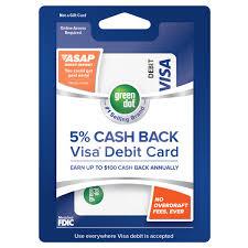 get 5 cashback on purchase 5 back visa debit card green dot