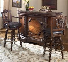 Ashley Millenium Bedroom Furniture by Traditional Demilune Bar With Marble Top By Millennium Wolf And