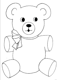 teddy bear coloring pages preschoolers colouring images free