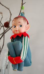 vintage christmas ornament pixie elf knee hugger 1950 u0027s large my