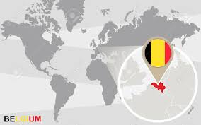 Belgia Flag World Map With Magnified Belgium Flag And Royalty Mesmerizing In