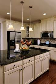 Black Cabinets White Countertops Kitchen Cute White Kitchen Cabinets With Black Granite