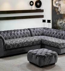 Grey Leather Sectional Sofa Modern Gray Leather Sectional Sofa Ef119 Leather Sectionals Gray