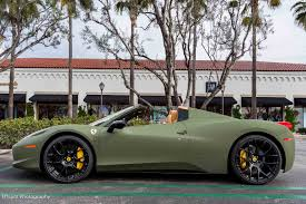 golden ferrari 458 matte green ferrari 458 italia luxury lifestyle pinterest