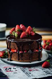 strawberry chocolate cake give recipe