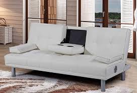new manhattan modern u0027sleep design u0027 faux leather sofa bed with