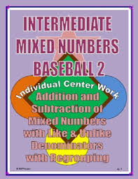 adding u0026 subtracting mixed numbers with regrouping individual