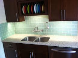 Kitchen With Glass Tile Backsplash Kitchen Modest Glass Tile Backsplash In Bathroom Cool Gallery