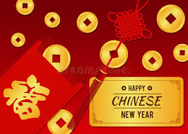 new year gold coins happy new year card angpao and gold coin