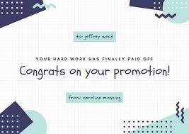 congratulations promotion card blue and aqua grid congratulations card templates by canva