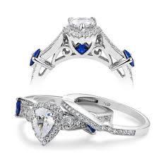 blue wedding rings blue wedding ring set ebay