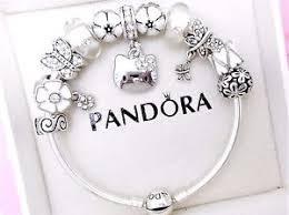 ebay charm bracelet silver images Authentic pandora silver bangle charm bracelet with hello kitty jpg