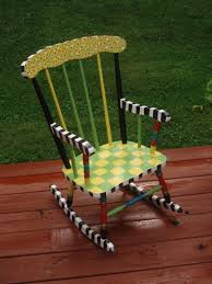 hand crafted hand painted child u0027s rocking chair custom by
