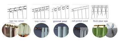Different Drapery Pleat Styles Curtain Hanging Styles Decorate The House With Beautiful Curtains