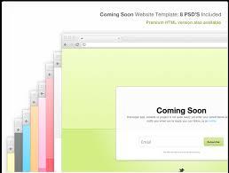 design deck slick coming soon website template psd