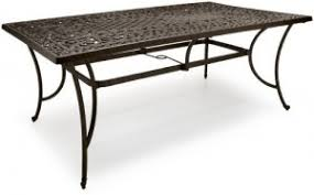Cast Aluminum Patio Tables Strathwood St All Weather Rectangle Dining Table Outdoor