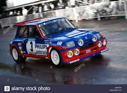 renault 5 maxi turbo 1985 renault 5 maxi turbo with driver jean ragnotti in the paddock