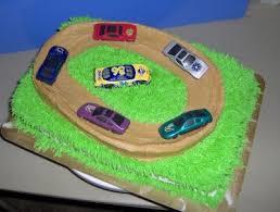 track car racing cake