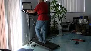 Diy Treadmill Desk by Studyworkout Treadmill Desk With Stability Belt Youtube