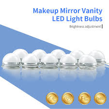 makeup vanity with led lights l led bulb chain ac85 265v makeup mirror led light 6 10 14 bulbs