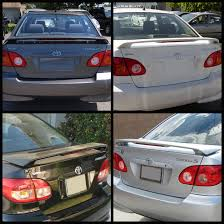 weight toyota corolla 08 toyota corolla sport light weight trunk spoiler wing w led