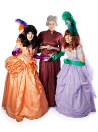 hire halloween costumes wicked step mother and evil step sister costumes from cinderella