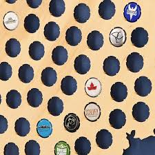 Chicago Brewery Map by Chicago Bottle Cap Map