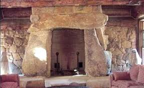 Stacked Stone Outdoor Fireplace - rock fireplace designs river rock fireplace stone fireplace
