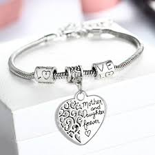 mothers day bracelets wholesale 2016 heart bracelet silver plated between