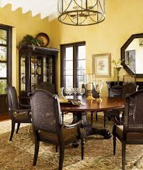 Lexington Dining Room Set by Tommy Bahama Kingstown Bonaire Round Dining Table Dining Tables