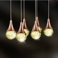 Creative Light Fixtures Modern Bubble Crystal Led Pendant Lamp 6 Heads Simple Creative