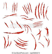 claws scratches vector isolated on white background