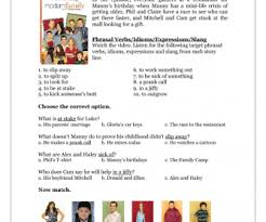 series worksheet modern family s02e08