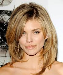 medium length hairstyles for hair parted in middle with bangs fashionable medium long hairstyles 02