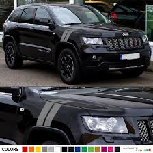 jeep grand cherokee front grill 2x hood fender racing hash stripes decal graphic vinyl compatible