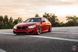 Bmw M3 Red - red bmw m3 f30 sedan on vossen cg202 wheels u2014 carid com gallery