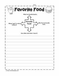 Paragraph Writing Worksheets Favorite Food Paragraph Worksheets