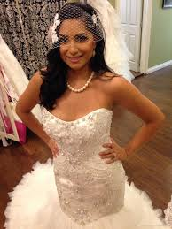 pearl necklace wedding images Mermaid wedding dresses wedding veil pearl necklace sweetheart jpg