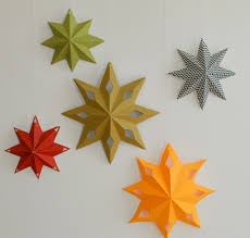 gorgeous and super easy diy paper star decorations from