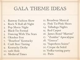 gala theme ideas for 2017 for fundraising impact auctions