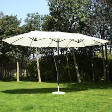 Patio Umbrellas Toronto by Outsunny 15 U0027 Outdoor Twin Patio Umbrella Aluminum Outdoor Market