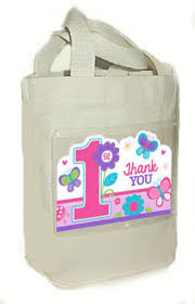 Birthday Favor Bags by Sweet 1st Birthday Favor Bag Canvas Fabric Cloth Tote
