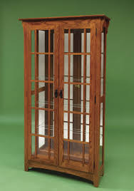 misson double door curio from dutchcrafters amish furniture