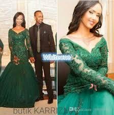 2016 emerald green long sleeve evening dresses plus size mermaid