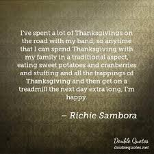 i ve spent a lot of thanksgivings on the road with my band so