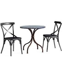 X Back Bistro Chair Check Out These Deals On Tile Top Bistro Table 2 X
