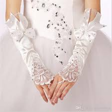 communion gloves brand new bridal gloves fingerless wedding gloves with bow for