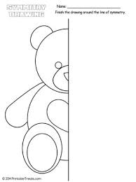 teddy bear symmetry drawing worksheet u2014 printable treats com