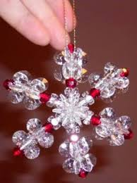 how to make a beaded snowflake ornament snowflake ornaments
